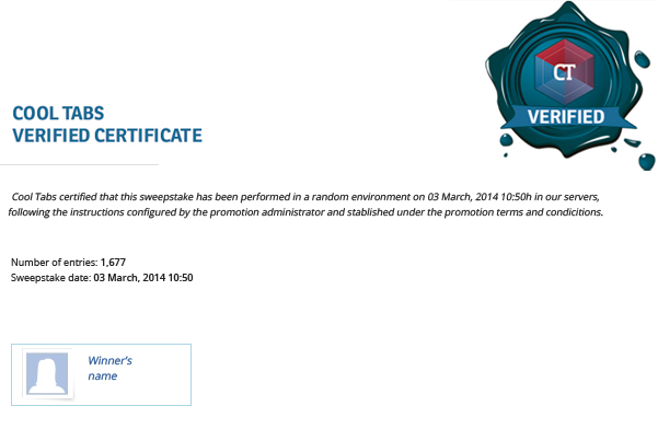 Cool Tabs: Verified Certificate