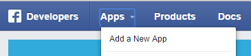 Facebook Developers: Add a new app