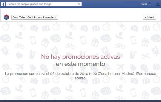 Mensaje: No hay promociones activas