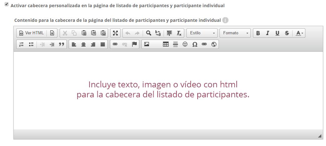 Personalización html