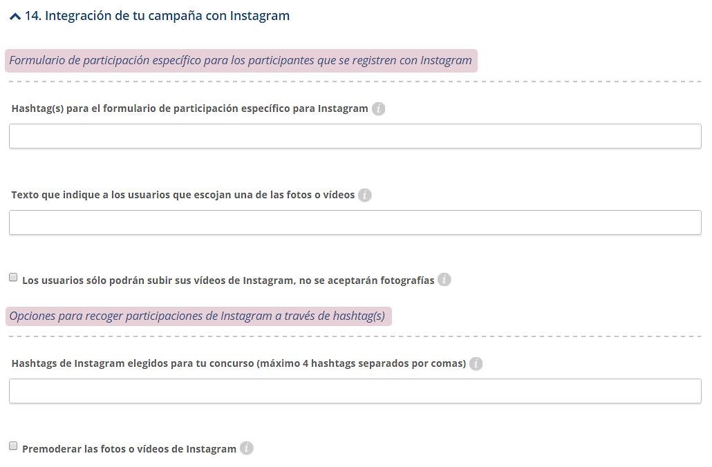 Integración de tu campaña con Instagram