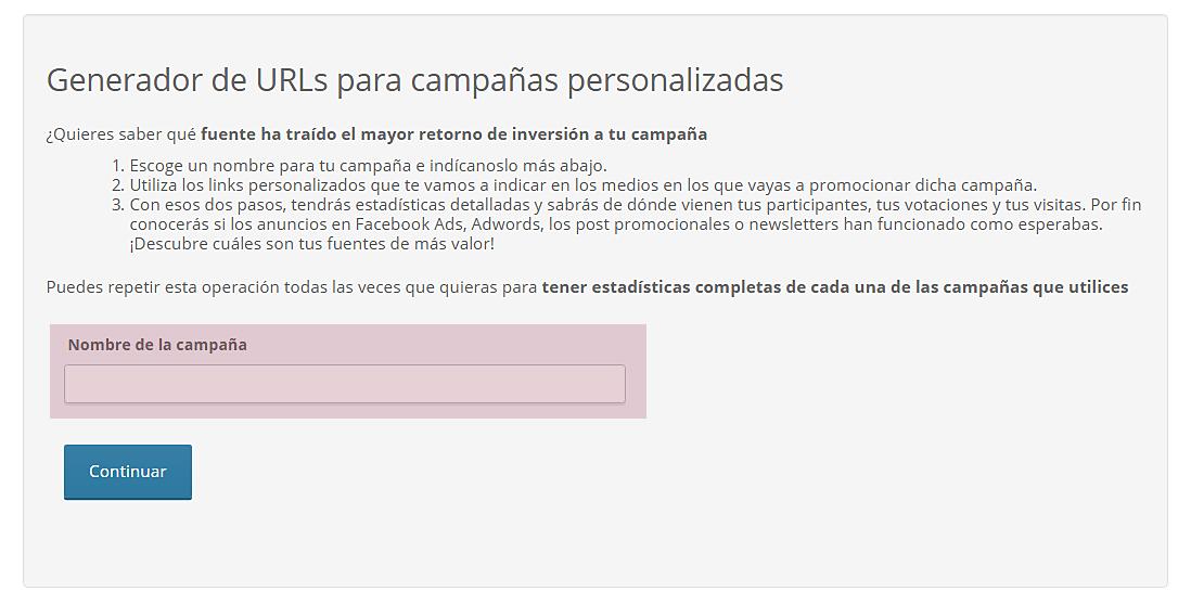 Generador de URLs para campañas personalizadas